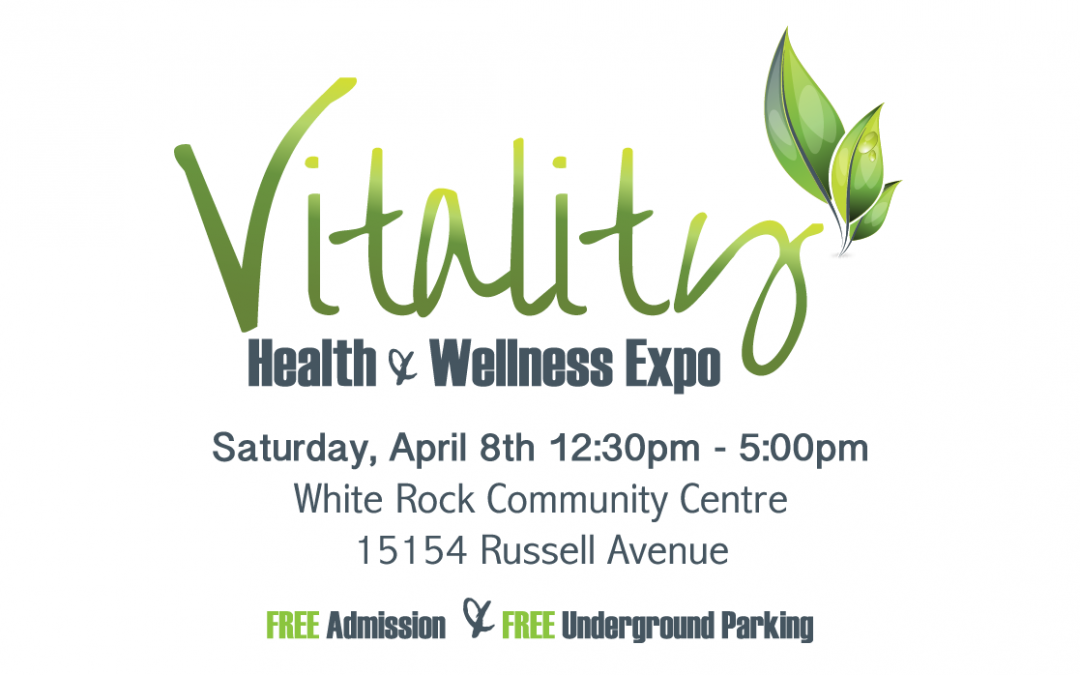 Join us at the Vitality Health & Wellness Expo on Saturday April 8, 2017