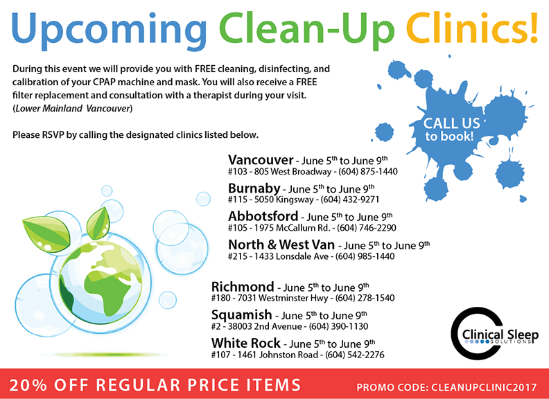 Upcoming Clean-Up Clinics 2017