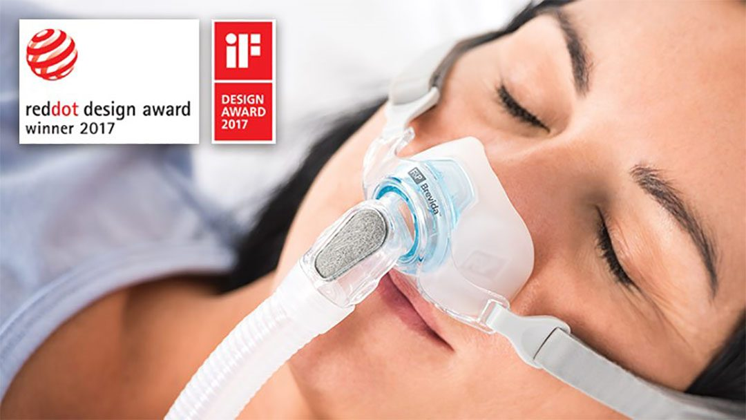 F&P Brevida™ Mask Takes Out Internationally Recognized iF Design and Red Dot Design Awards