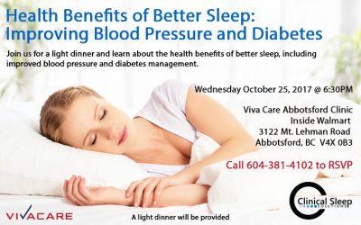Health Benefits of Better Sleep Dinner Seminar