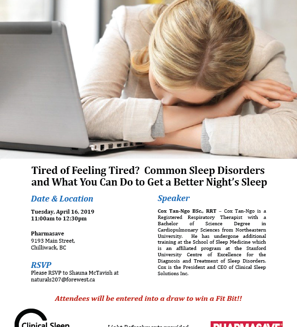 April 16, 2019: Tired of Feeling Tired?