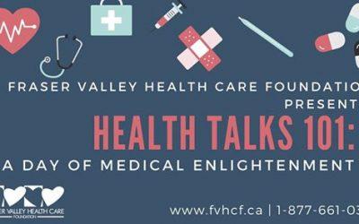 September 28, 2019: Health Talks 101 – A Day of Medical Enlightenment
